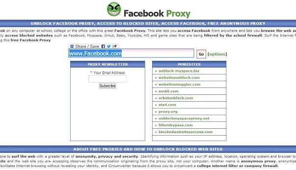 Access blocked websites with the HMA! free proxy