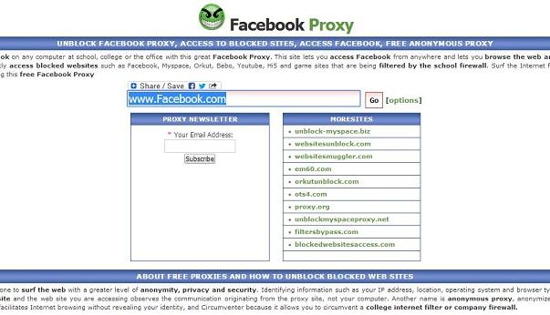 Free Facebook Proxy