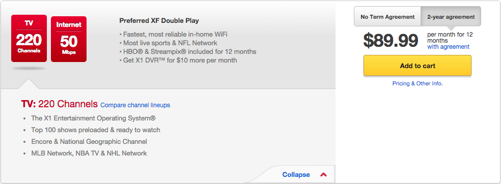 Double play deals comcast