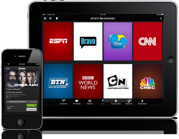 xfinity tv mobile