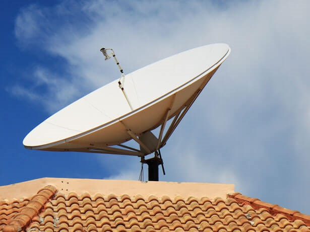 a satellite receiver dish