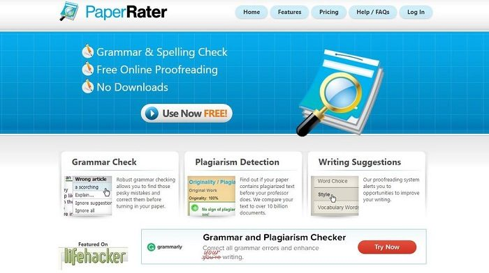 paperrater.com, free online plagiarism checker