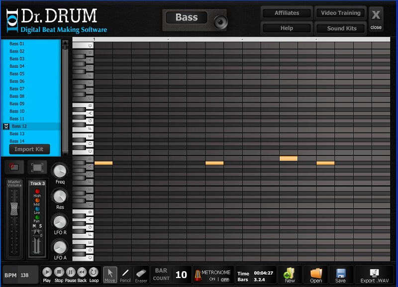 Dr Drum, one of the best beat making software