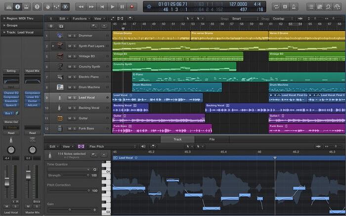 Apple Logic Pro X interface