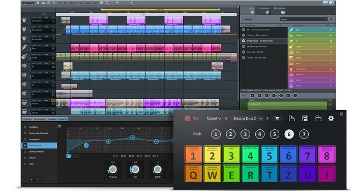 MAGIX Music Maker 2017, one of the best recording software