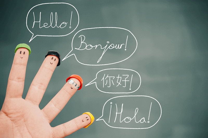 Hello written in different laguages