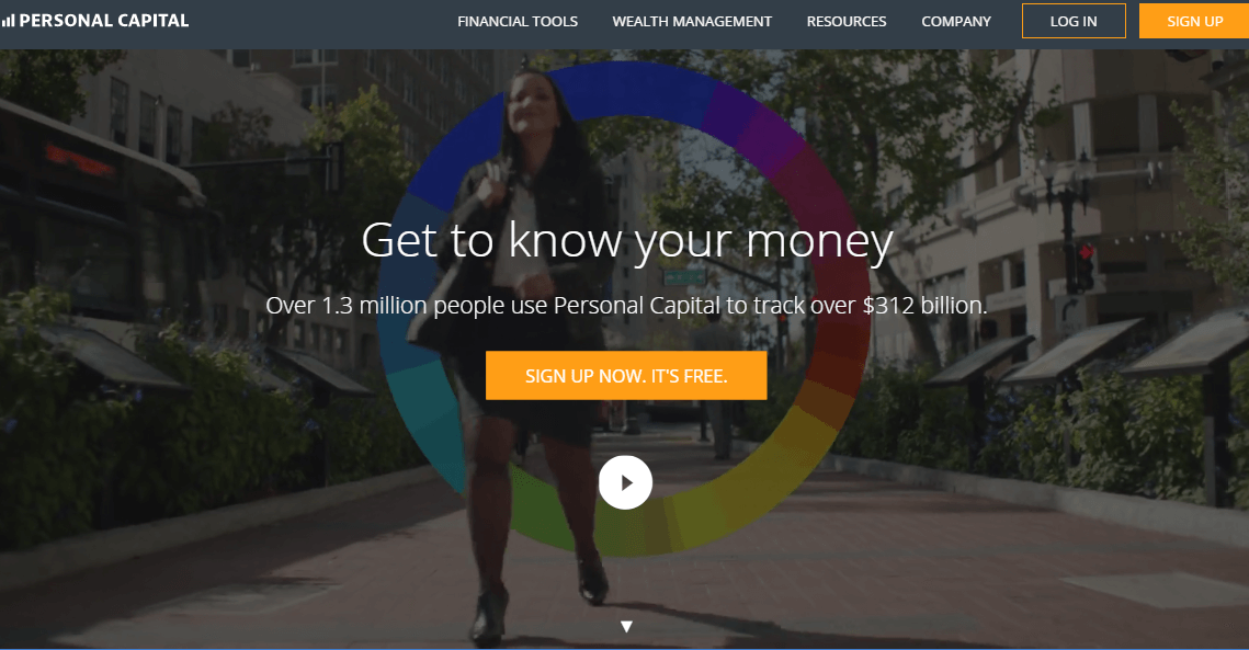 Personal Capital website screenshot