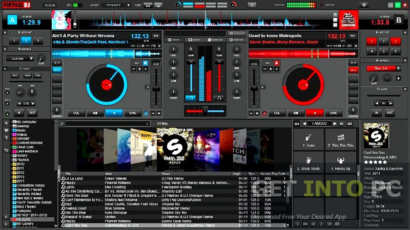 Atomix VirtualDJ Pro interface