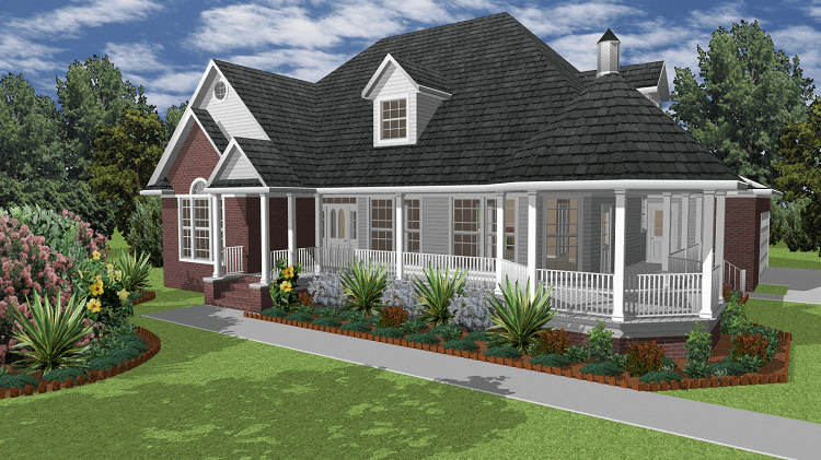 3D house made with the TurboFloorPlan Home & Landscape