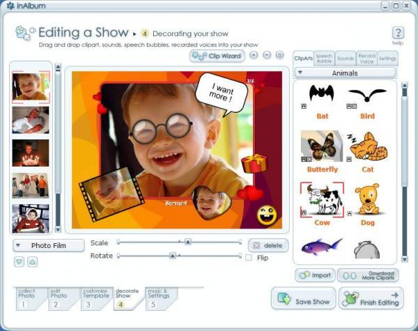 How to edit a slideshow in InAlbum Deluxe