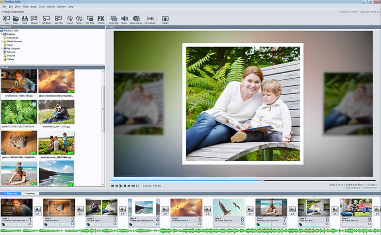 Creating a slideshow with ProShow Gold