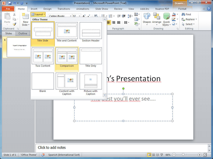 Microsoft PowerPoint slideshow