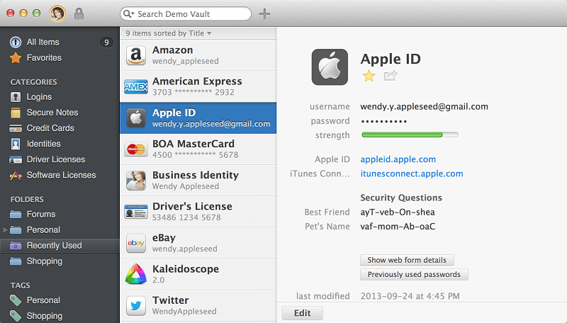1Password, one of the best productivity apps for Mac