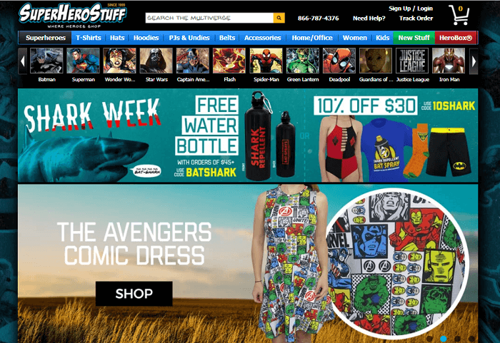 SuperHeroStuff online shop