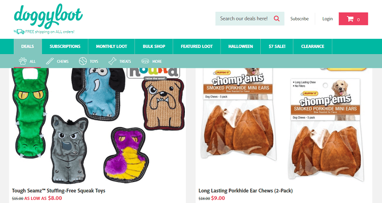 Doggyloot daily deals