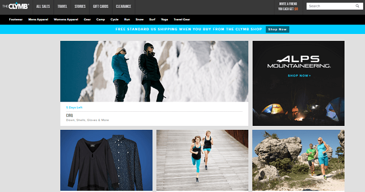 The Climb, one of the sites like Zulily