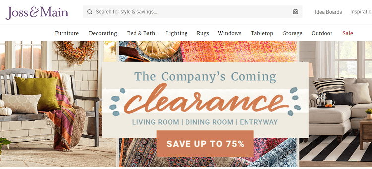 Joss & Main, a web shop like zulily