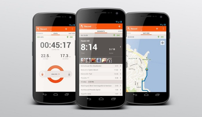 Strava, one of the best workout and diet apps