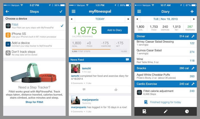 MyFitnessPal workout app