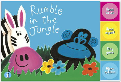 Rumble in the Jungle app for toddlers