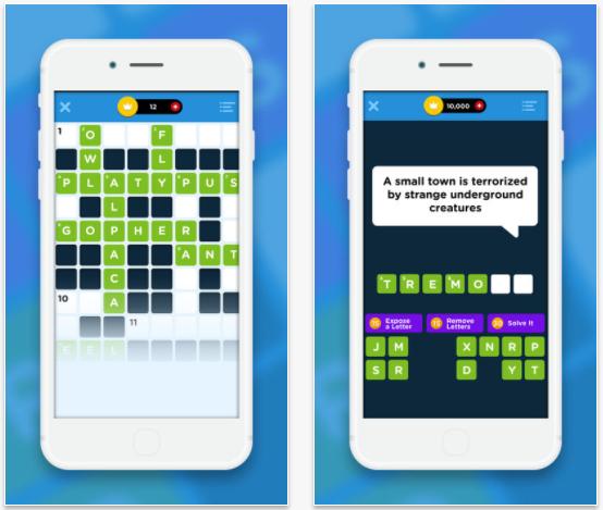 Crossword Quiz+ crossword app for iPad