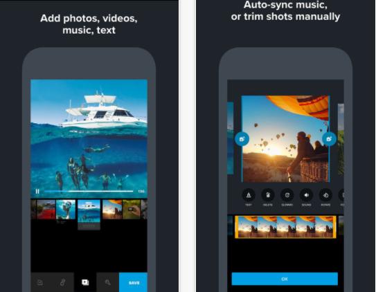 Quick video editing app