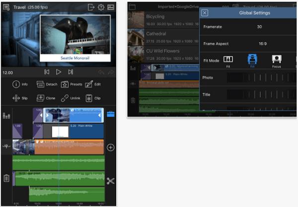 LumaFusion video editing app for iPad