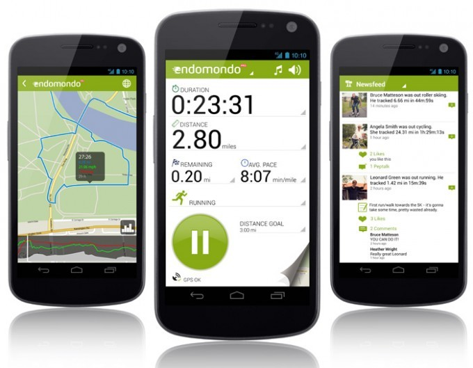 Endomondo, one of the best workout and diet apps