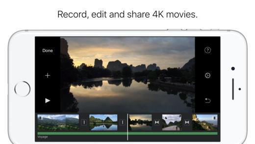 iMovie app for iPad