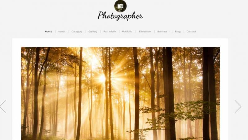 Free Responsive WordPress Themes For Photographers