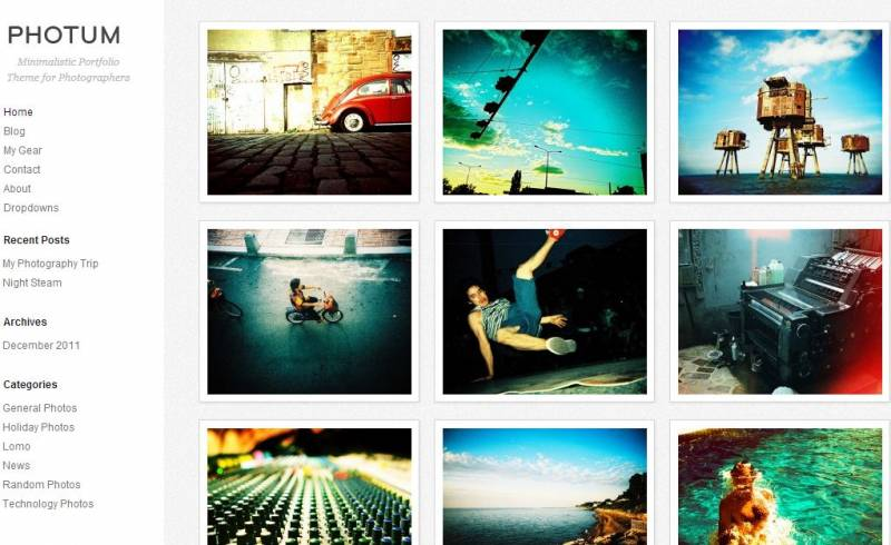 Free Responsive WordPress Themes For Photographers