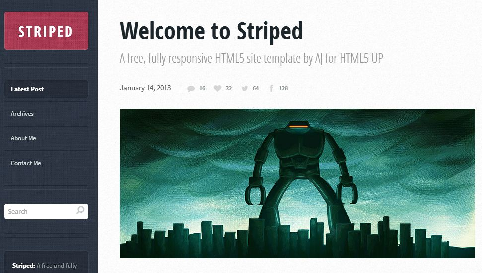 free responsive html5 templates28