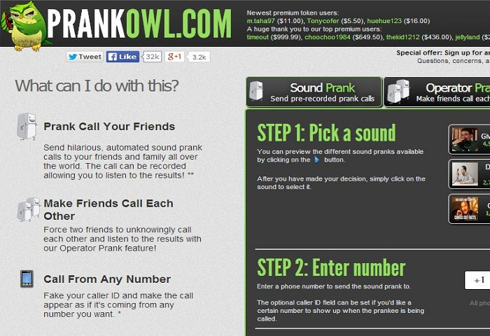 free prankdial websites