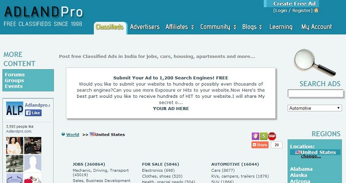how to start classified website