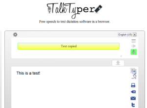 TalkTyper software screenshot