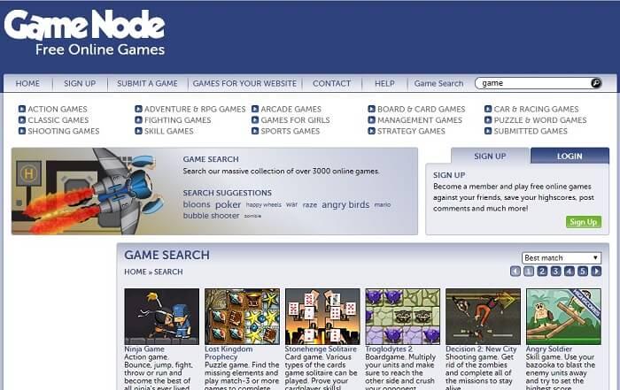 Game Node interface