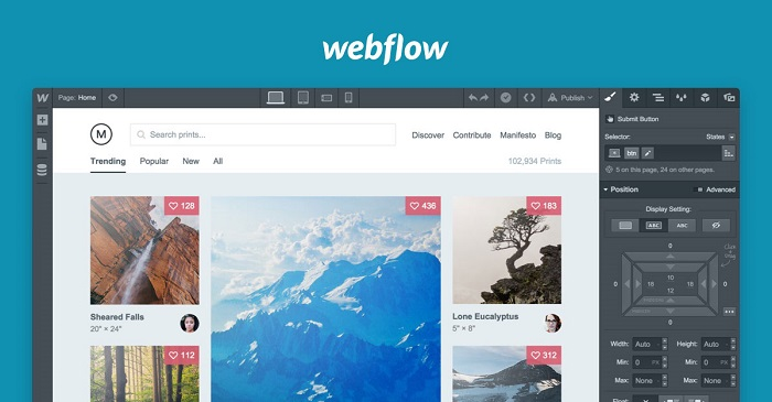 editing with webflow