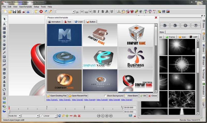 Aurora 3D, one of the best animation software