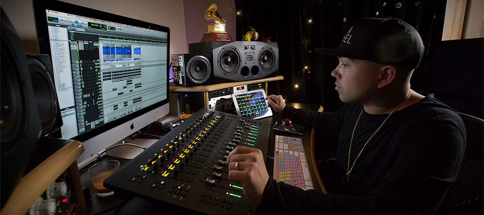 man recording with Pro Tools, one of the best recording software