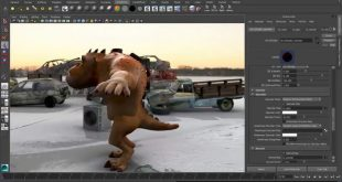 animated character being created with Autodesk Maya