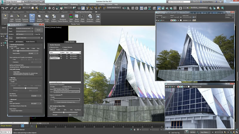 Autodesk 3ds Max animation software interface