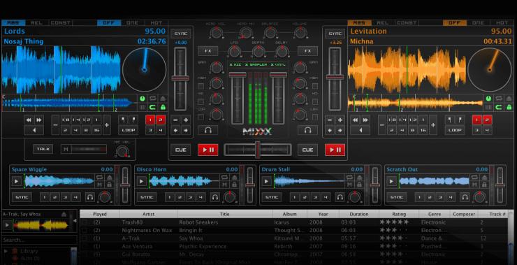 Mixxx, one of the best DJ software