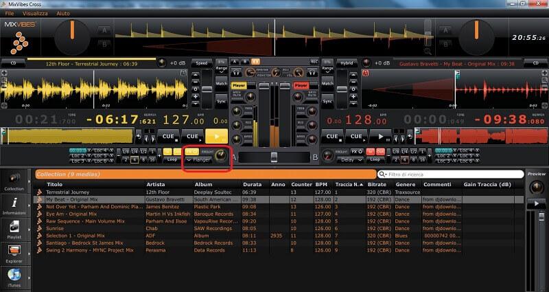 Mixvibes Cross interface