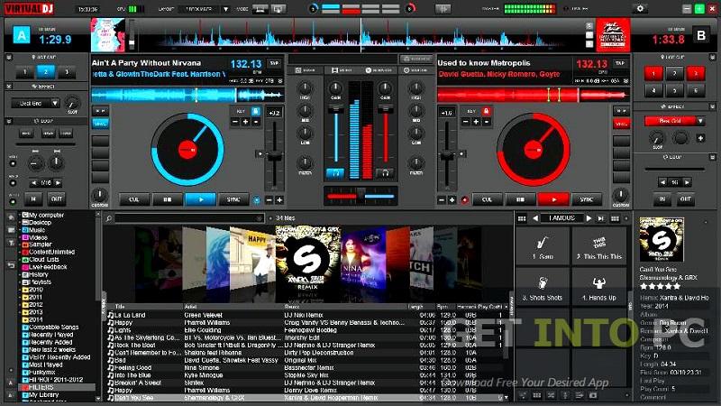 Atomix VirtualDJ Pro interface
