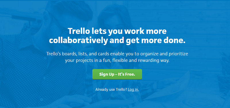 Trello project management software