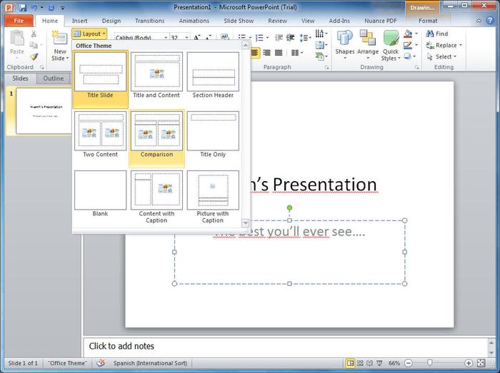 Microsoft PowerPoint slideshow