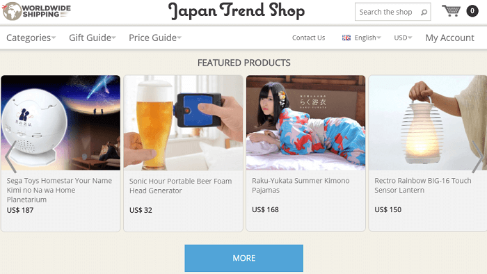 Japan Trend Shop website screenshot