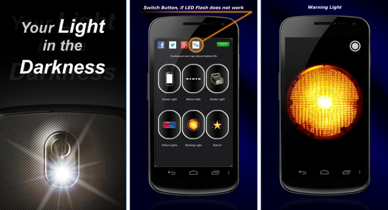Flashlight features