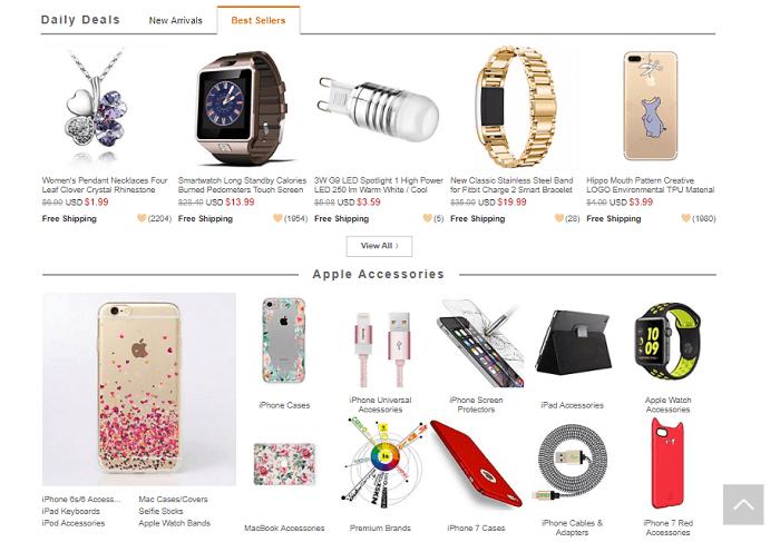 MiniInTheBox online shop screenshot