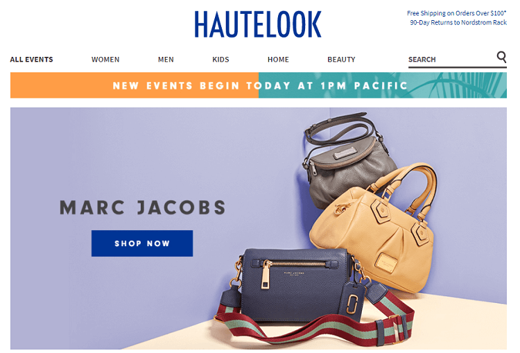 Hautelook website screenshot